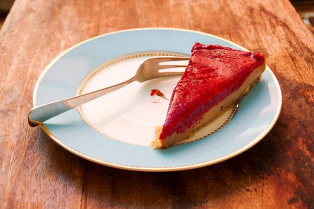 Roher Himbeer Cheesecake