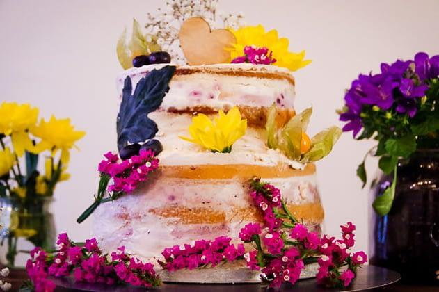 Veganen Hochzeitstorte